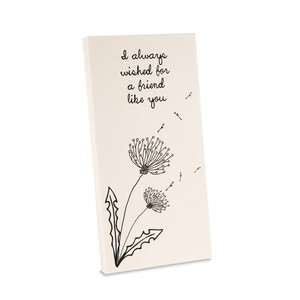 "Friend by Dandelion Wishes - 3.5"" x 7"" Canvas Plaque"