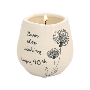 Happy 40th by Dandelion Wishes - 8 oz - 100% Soy Wax Candle Scent: Serenity