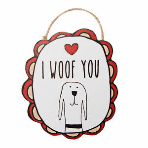 "I Woof You by It's Cats and Dogs - 4"" Ornament with Magnet"