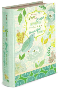 "Live, Laugh, Love by Vintage by Stephanie Ryan - 6.5"" x 2"" x 8.5"" Musical Book Box"