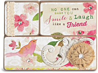 Friends by Vintage by Stephanie Ryan - 3 Piece Plaque Set