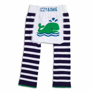Navy and White Whale by Izzy & Owie - 6-12 Month Baby Leggings