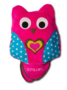 "Pink Owl by Izzy & Owie - 13"" x 14"" Pillow with 35"" x 48"" Blanket"