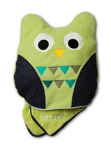 "Green Owl by Izzy & Owie - 13"" x 14"" Pillow with 35"" x 48"" Blanket"
