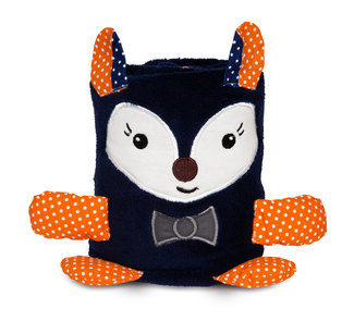 "Navy Fox by Izzy & Owie - 6.5"" Blanket Roll (Blanket Size 24"" x 35"")"