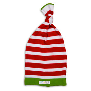 Red and White Stripe by Izzy & Owie - 0-12 Month Baby Hat