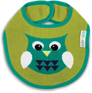 Green and Aqua Owl by Izzy & Owie - Baby Bib