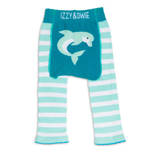 Blue Dolphin by Izzy & Owie - 6-12 Months Baby Leggings
