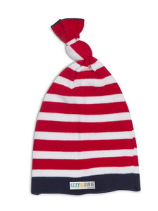 Red and Navy Stripe by Izzy & Owie - One Size Fits All Baby Hat