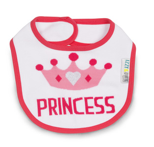 Pink Princess Crown by Izzy & Owie -  Baby Bib
