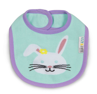 Blue and Lavender Bunny by Izzy & Owie -  Baby Bib