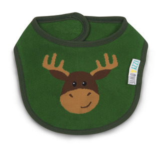 Forest Green Moose by Izzy & Owie -  Baby Bib