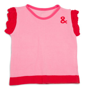 Pink and Coral  by Izzy & Owie - 6-12 Months Ruffle T-Shirt