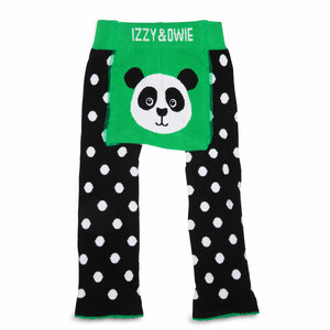 Bamboo Green Panda by Izzy & Owie - 12-24 Months Baby Leggings