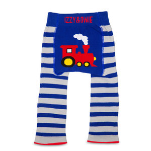 Red and Blue Train by Izzy & Owie - 12-24 Months Baby Leggings