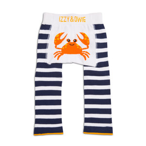 Nautical Crab by Izzy & Owie - 6-12 Months Baby Leggings