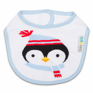 Winter Penguin by Izzy & Owie -  Baby Bib