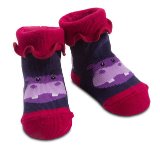 Purple Hippo by Izzy & Owie - 0-12 Sock