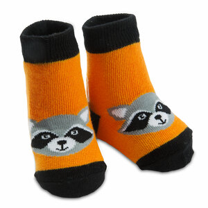 Orange Raccoon by Izzy & Owie - 0-12 Sock