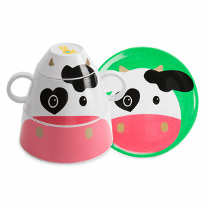 Cow by Izzy & Owie - 4 pc Stackable Dinner Set