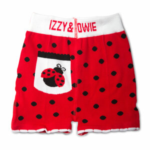Red and Black Ladybug by Izzy & Owie - 6-12 Months Baby Shorts