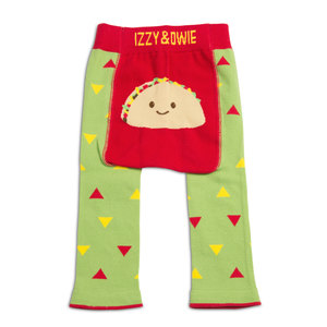 Green and Red Taco by Izzy & Owie - 6-12 Months Baby Leggings