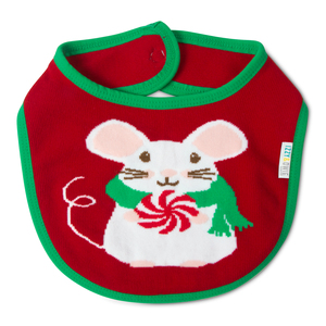 Christmas Mouse by Izzy & Owie - Baby Bib