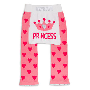Pink Princess Crown by Izzy & Owie - 0-6 Months Baby Leggings