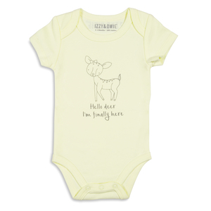 Soft Yellow Deer by Izzy & Owie - 0-6 Months Onesie