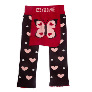 Butterfly Hearts by Izzy & Owie - 6-12 Months Baby Leggings