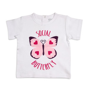 Butterfly Hearts by Izzy & Owie - 12-24 Months White T-Shirt