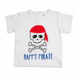 Happy Pirate by Izzy & Owie - 12-24 Months White T-Shirt
