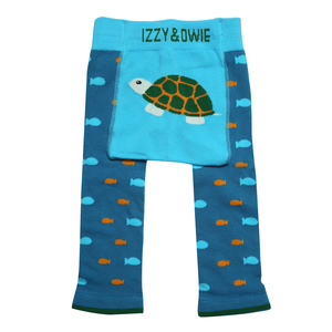 Green Turtle by Izzy & Owie - 6-12 Months Baby Leggings