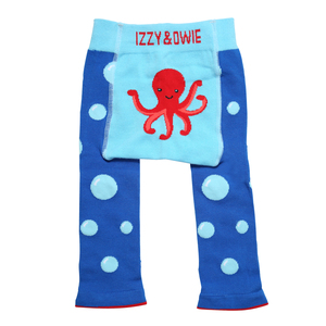 Blue Octopus by Izzy & Owie - 6-12 Months Baby Leggings