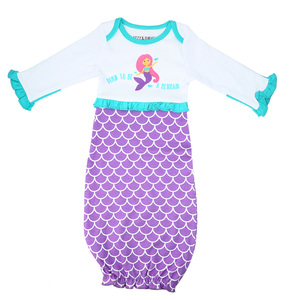 Mystical Mermaid by Izzy & Owie - 0-3 Months Gown with Mitten Cuffs