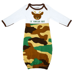 Camo Deer by Izzy & Owie - 0-3 Months Gown with Mitten Cuffs