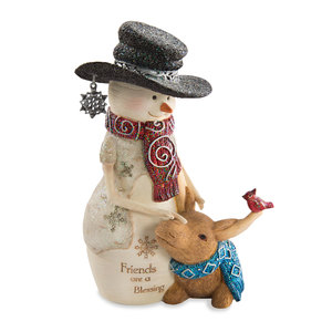 "Friendship by The Birchhearts - 5"" Snowman with Moose"