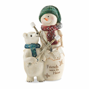 "Friends by The Birchhearts - 5"" Snowman with Polar Bear"