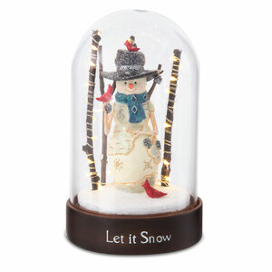 Let it Snow by The Birchhearts - USB Tap Activated LED Glass Dome