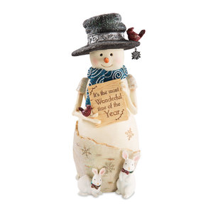 "Wonderful by The Birchhearts - 9"" Snowman Holding Sign"