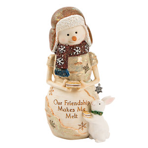 "Melt by The Birchhearts - 5"" Snowman with Bunny"