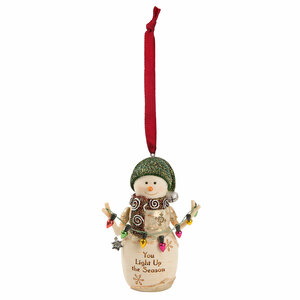 "Light Up by The Birchhearts - 4"" Snowman Ornament"