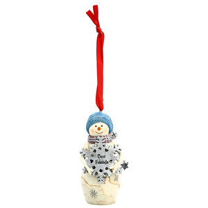 "Best Friends by The Birchhearts - 4"" Snowman Ornament"