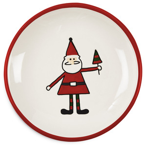 "Santa by Holiday Hoopla - 5"" Plate"