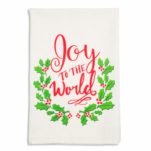 "Joy by Holiday Hoopla - 26.5""x27.25"" Tea Towel"