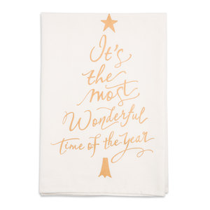 "Wonderful by Holiday Hoopla - 26.5""x27.25"" Tea Towel"