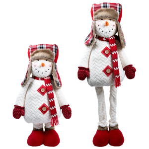 "Towering Terry by WarmHearts - 22"" - 44"" Extendable Standing Snowman"