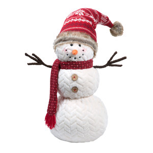 "Aunt Artica by WarmHearts - 19"" Snowman"