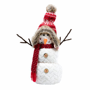 "Ava Lanche by WarmHearts - 14"" Snowman"