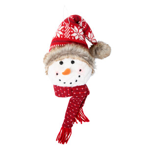 "Snowflake by WarmHearts - 8"" Snowman Hanging Ornament"